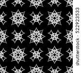 vector black ornamental... | Shutterstock .eps vector #522923533