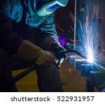 welder  craftsman  erecting... | Shutterstock . vector #522931957