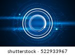 abstract blue hi tech circular... | Shutterstock .eps vector #522933967