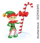 elf santa claus santa's elves...   Shutterstock .eps vector #522934393