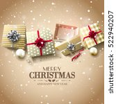 christmas gift boxes and... | Shutterstock .eps vector #522940207