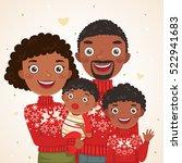happy christmas african... | Shutterstock .eps vector #522941683