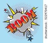 boom dot icon over blue... | Shutterstock .eps vector #522970417