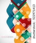 geometric vector abstract... | Shutterstock .eps vector #522971413