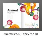molecule annual report. vector... | Shutterstock .eps vector #522971443