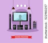 vector illustration of home... | Shutterstock .eps vector #522983257