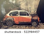 abandon old vintage car with...   Shutterstock . vector #522984457