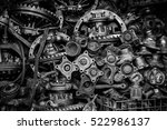 old machine parts in second... | Shutterstock . vector #522986137