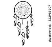 hand drawn native american...   Shutterstock .eps vector #522989107