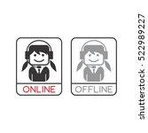 customer service operator... | Shutterstock . vector #522989227