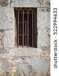 old stone jail house window...   Shutterstock . vector #522994633
