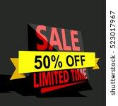 super sale  paper banner  sale... | Shutterstock .eps vector #523017967