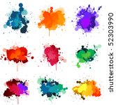 paint splats | Shutterstock .eps vector #52303990