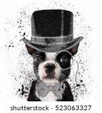 french bulldog illustration | Shutterstock . vector #523063327