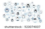 graphic representation social... | Shutterstock .eps vector #523074037