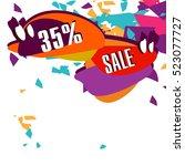super sale  paper banner  sale... | Shutterstock .eps vector #523077727