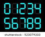 electronic figures. light blue...   Shutterstock .eps vector #523079203