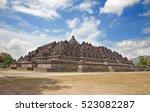 borobudur temple near...   Shutterstock . vector #523082287