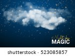 magic christmas cloud. shining... | Shutterstock .eps vector #523085857