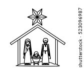 isolated holy family design | Shutterstock .eps vector #523096987