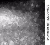 black and white polygonal... | Shutterstock .eps vector #523099573