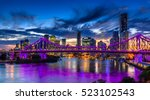 vibrant night time panorama of... | Shutterstock . vector #523102543