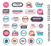 sale shopping stickers and... | Shutterstock . vector #523103623