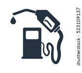 fuel station  gun  isolated... | Shutterstock .eps vector #523109137