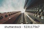 skyscraper buildings and sky... | Shutterstock . vector #523117567
