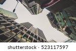 skyscraper buildings and sky... | Shutterstock . vector #523117597