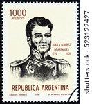 argentina   circa 1981  a stamp ... | Shutterstock . vector #523122427