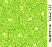 lime seamless pattern... | Shutterstock .eps vector #523124353