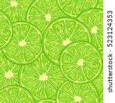 lime seamless pattern... | Shutterstock .eps vector #523124353