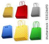 set of different colorful paper ... | Shutterstock .eps vector #523126693