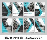 blue collection set cover... | Shutterstock .eps vector #523129837