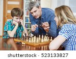 chess game at home. family... | Shutterstock . vector #523133827