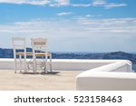 Chairs In Santorini   Grece
