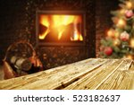 Wooden Desk Xmas Tree And...