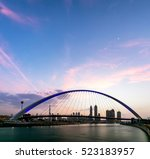 a view of dubai canal and dubai ... | Shutterstock . vector #523183957