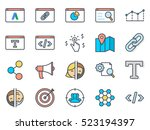 seo business colored icon... | Shutterstock .eps vector #523194397