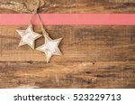 Two Wooden Christmas Stars...