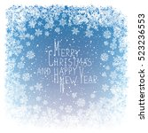 merry christmas greeting. new... | Shutterstock .eps vector #523236553