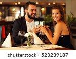 picture of romantic couple... | Shutterstock . vector #523239187