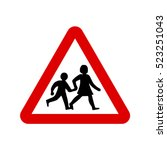 school sign  uk children sign.... | Shutterstock .eps vector #523251043