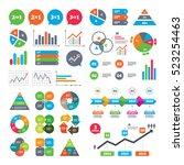 business charts. growth graph.... | Shutterstock . vector #523254463