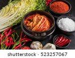 korean spice and kimchi   Shutterstock . vector #523257067