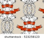 hand drawn vector abstract... | Shutterstock .eps vector #523258123