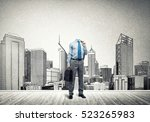 headless engineer man with... | Shutterstock . vector #523265983