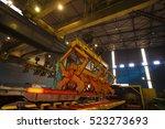 steel making in steel plant ... | Shutterstock . vector #523273693
