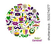 bright carnival with icon in...   Shutterstock . vector #523274377